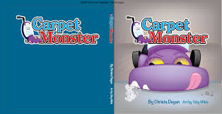 a custom book cover design about a vacuum cleaner that was made to be menacing but