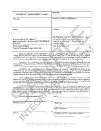 surety bond form maryland trespass towing bond form integrity surety bonds fill