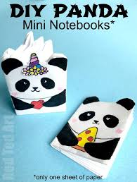 diy panda mini notebook crafts how to make a notebook from one sheet of paper