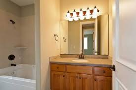 best lighting for bathroom. Over Vanity Lighting. 5 Light Bathroom Natural Brown Cabinet Lighting Thestudiobydeb Best For F