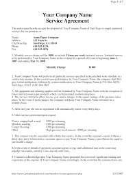 Service Agreement Janitorial Service Agreement By Hgh24 Sample Janitorial 13