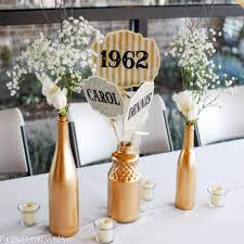 50th anniversary centerpieces ideas jangler for 50th wedding anniversary table decorations