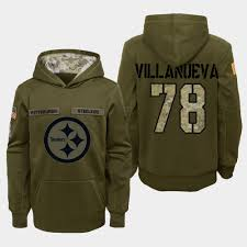 Conner Olive 2018 James To Steelers Salute Youth - Service Hoodie