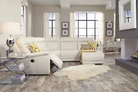 california ivory beige power reclining sectional