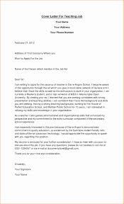 Teaching Job Application Cover Letter Templ Ideas Employment