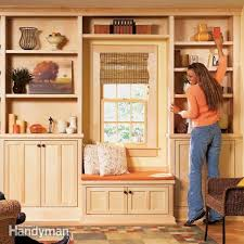 bought cabinets make the project simple to build and easy to adapt to any room