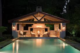 Outdoor Kitchen Designs With Pool Awesome Decorating Design