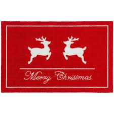 Doormat 40x60 cm door mat red white Christmas reindeers Astra doormat