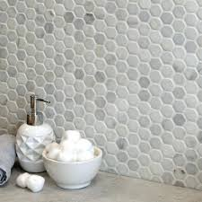 1 inch hexagon tile white mosaic large hex bathroom grey marble floor tiles australia