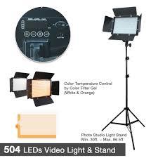 Photo Studio Lighting Kit Ebay Details About Photo Studio Dimmable Led Barn Door Light Panel W Stand Gel Filters Lighting Kit