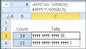 Excel Rept Function Examples