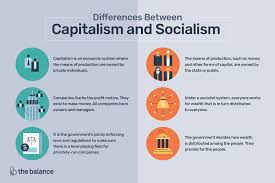 Types Of Economic Systems Chart The Differences Between Capitalism And Socialism