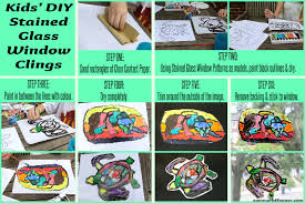 kids diy stained glass window clings tutorial
