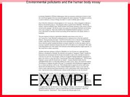 environmental pollutants and the human body essay custom paper service environmental pollutants and the human body essay an essay about environment pollution if such species
