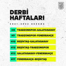 Süper Lig 2021-2022 sezonu fikstürü belli oldu: Derbiler kaçıncı hafta  oynanacak? - Yeni Şafak