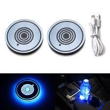 2010 Camaro Cup Holder Lighting Ijdmtoy 2 68mm Ultra Blue Led Illuminated Cup Holder