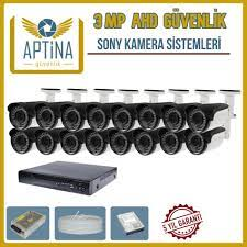 16 Kameralı 3 MP Ahd Sony Aptina Cctv Kamera Sistemi - Aptina Güvenlik