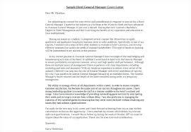 Sample Cover Letter For Restaurant General Manager Stylish General