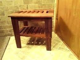 teak wood shower bench plans cedar stool architectures exciting corner pl