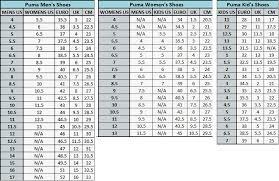 Reebok Shoe Size Chart For Kids Buy Reebok Mens Shoe Size Chart 58 Off