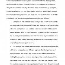 compare contrast essay papers compare and sample cover letter college comparison essay example comparison contrast essay examples template ideas for compare essay