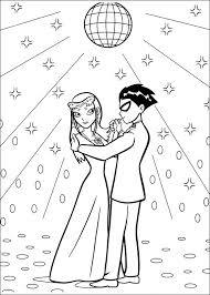Small Picture Teen titans coloring pages robin and starfire dancing ColoringStar
