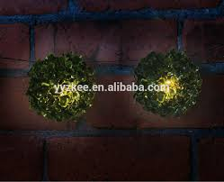 New 28cm Topiary Ball Bush 20 Led Solar Powered Light Garden Artificial Topiary Trees With Solar Lights