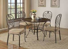 cherry wood metal dining set my furniture place