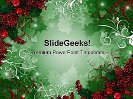Holly Berries01 Christmas Powerpoint Template 0610