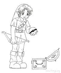 Zelda Coloring Pages Lineart Zelda Link Coloring Pages Color
