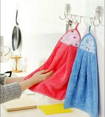 kitchen towel hanger. Get Quotations · Creative Kitchen Towel Hanging Hand Towels Coral Velvet Cartoon Cloth Wipes Hanger