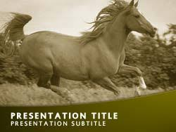 template horse royalty free horse powerpoint template in yellow