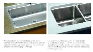 undermount or top mount sink with granite on in wonderful fascinating