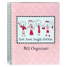 Monthly Bill Organizer Book Bill Paying Organizer Budget Book W Pockets Live Laugh Love