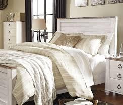whitewashed bedroom furniture. Willowton Whitewash King Panel Bed Whitewashed Bedroom Furniture A