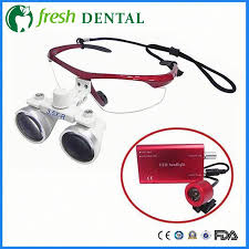 Cheap Dental Loupes With Light Us 74 25 6 Off 2 5x Dental Loupes Head Light Dental Glasses 420mm Led Lamp Portable Loupes Surgical Medical Ce Proved Dental Equipment Sl703 In