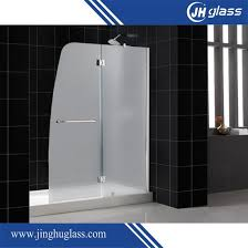 sliding bowfront shower door with double side easy clean nano coating