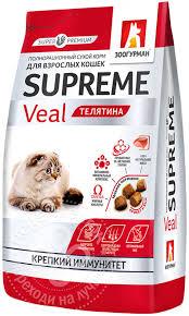Купить <b>Сухой корм</b> для кошек <b>Зоогурман</b> Supreme Телятина 350г ...