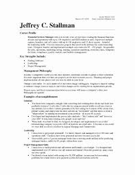 Operations Manager Resume Examples Resume format for Operations Profile Inspirational Operations 45