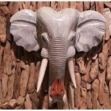elephant head wall hanging large