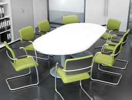 Kito D end Boardroom Table with Triple A Frame Legs in Beech