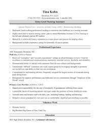 Nursing Assistant Resume Sample Monster Com Certified No Exper Sevte