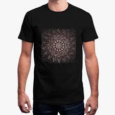 Elegant Rose Gold Mandala Dots And Marble Artwork T Shirt Men Large Streetwear Mens T Shirt Cotton Simple Summer Tee Shirt Man Cool T Shirt Buy Shirts