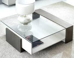 modern glass coffee tables coffee table glass and wood contemporary coffee table lacquered wood glass rectangular