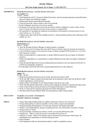 Senior Financial Accounting Analyst Resume Samples Velvet Jobs