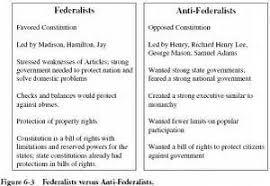 federalists vs anti federalists essay  federalists vs anti federalists essay