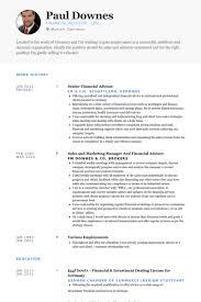 Finance S Ideal Financial Advisor Resume Example Best Sample