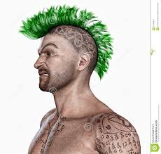 Body Hair Style young man with a punk hair style and tattooes stock image image 3081 by stevesalt.us