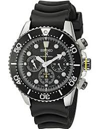 sports watches shop amazon uk seiko ssc021p1 solar diver s wristwatch men s rubber band colour black