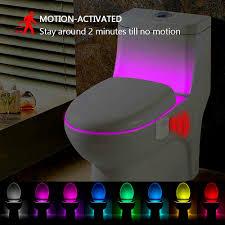 Toilet Bowl Light Uk Details About 8 Color Toilet Night Light Led Sensing Automatic Bowl Seat Sensing Glow Uk